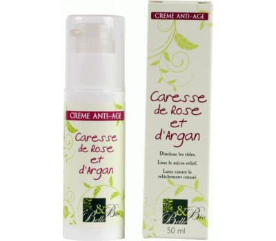 cr me anti age caresse de rose et argan bio 50 ml. Black Bedroom Furniture Sets. Home Design Ideas